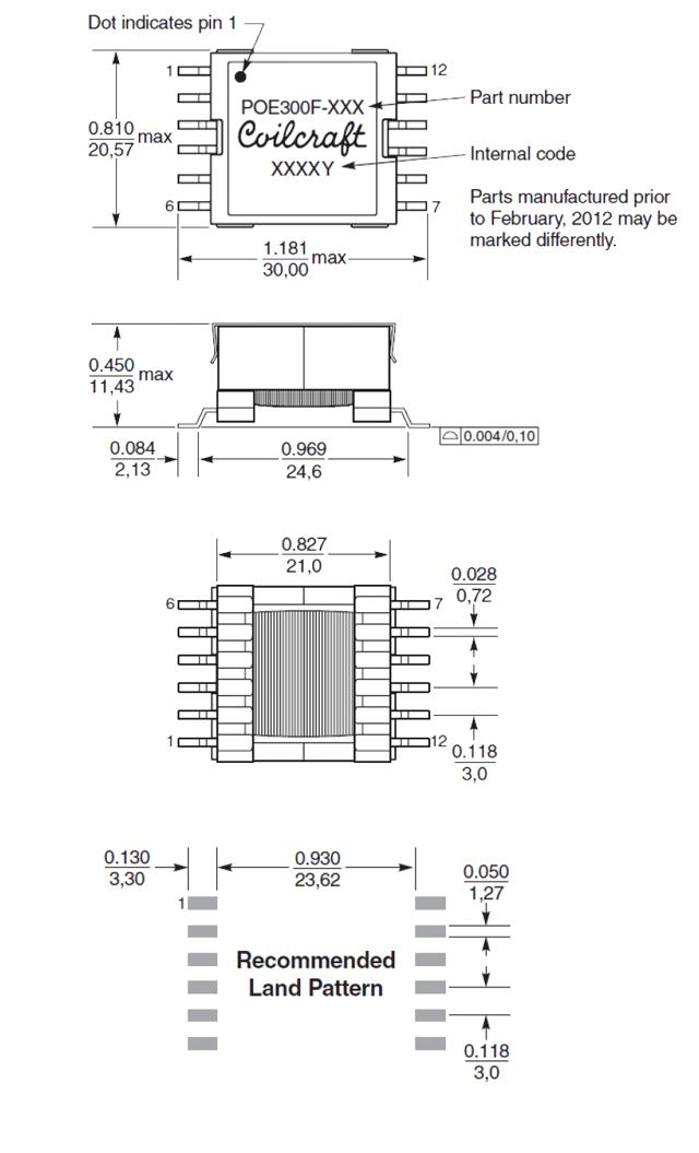 POE300F の寸法図