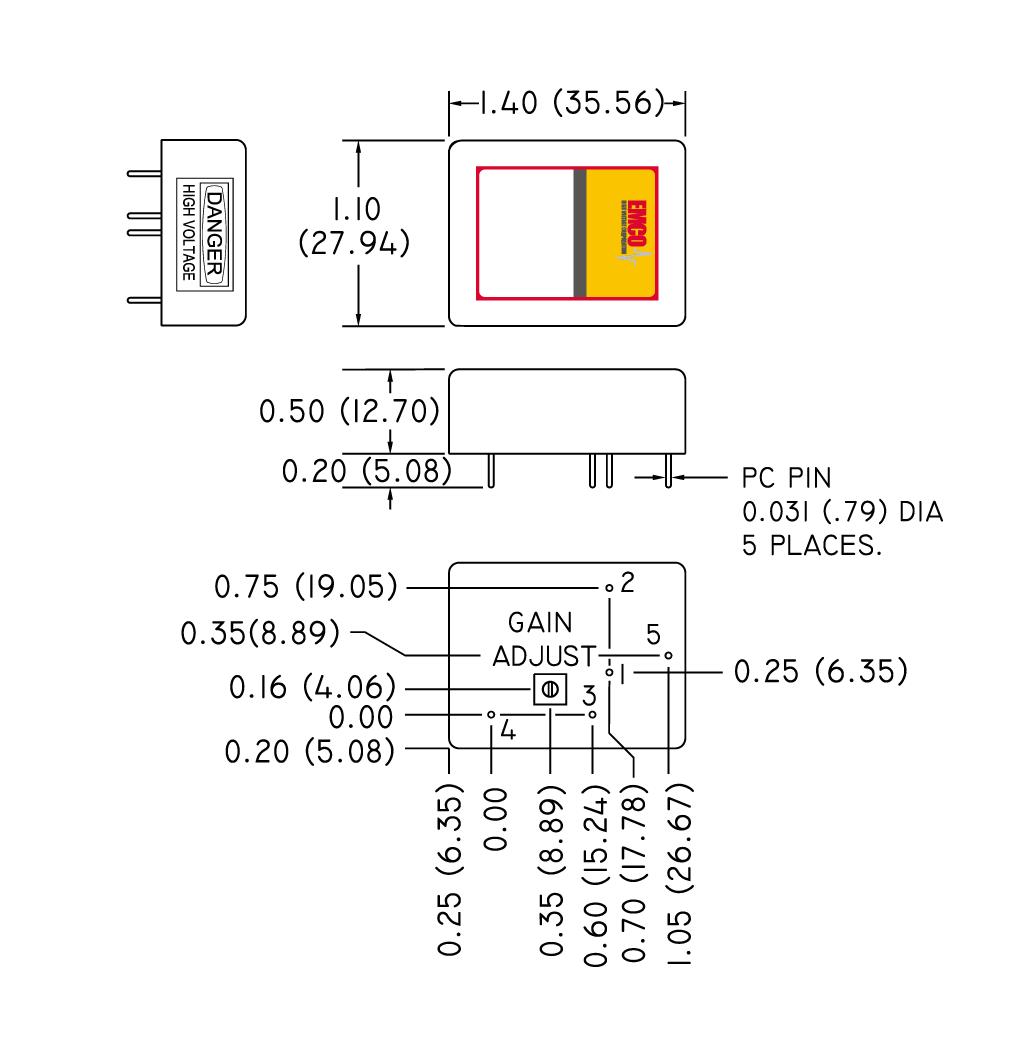 EMCO C シリーズ寸法図