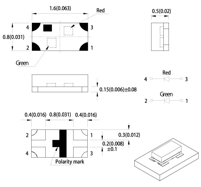 KPHB-1608 寸法図