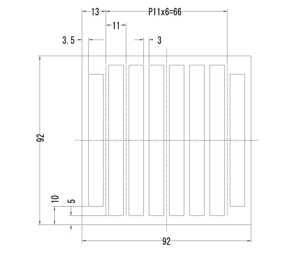 92NF092 ヒートシンク寸法図