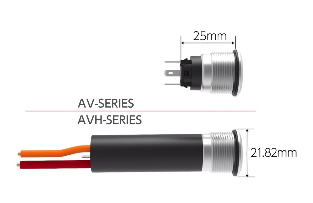 プッシュボタン AV/AVH シリーズ