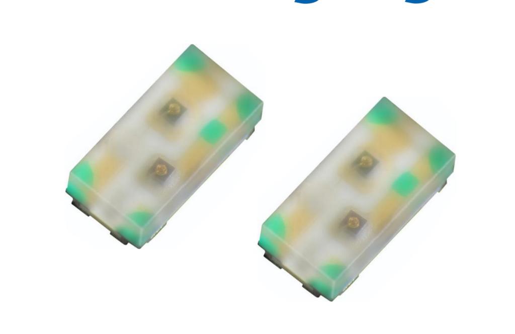 KPHB-1608 シリーズ 小型2色発光 表面実装 LED
