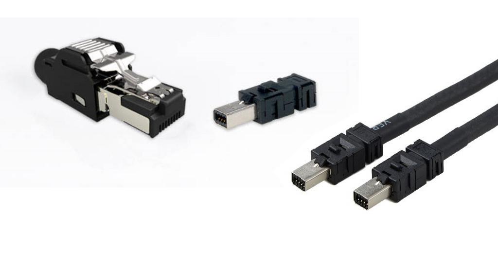 TE Connectivity インダストリアルミニ I/O ケーブルコネクタ