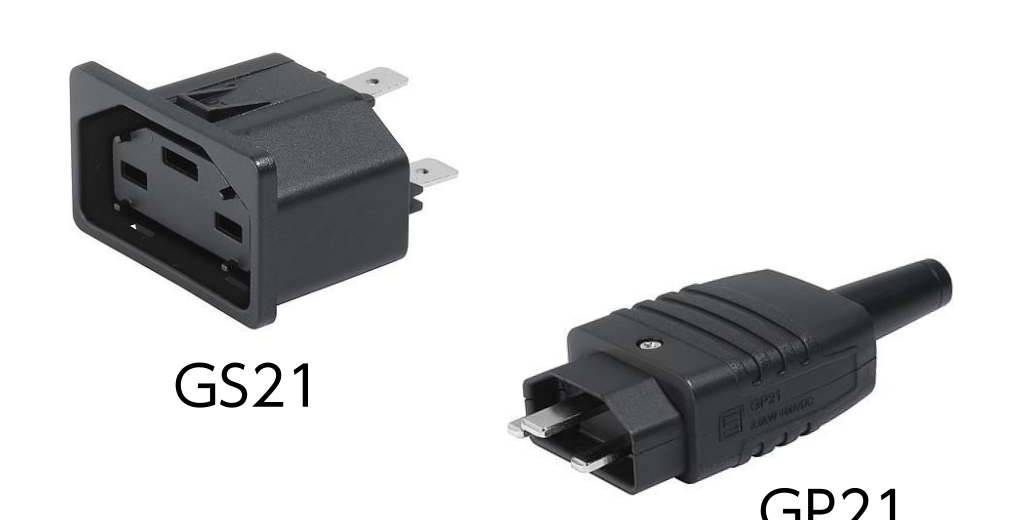 400VDC 給電 IEC コネクタ GP21/GS21