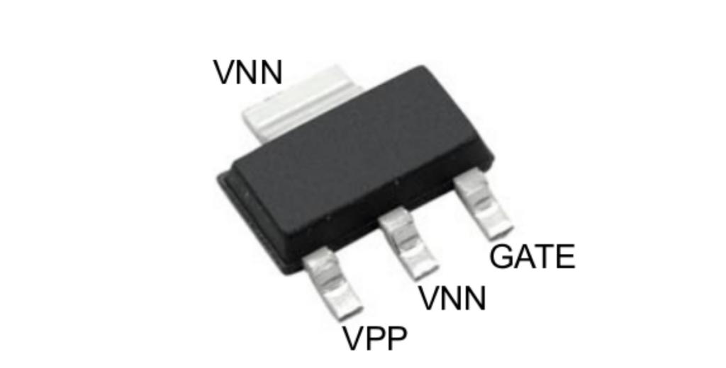 HV100 の TO-223 パッケージ
