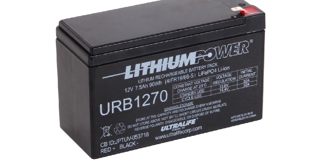 Ultralife 社製リン酸鉄リチウムイオン電池ラインアップ