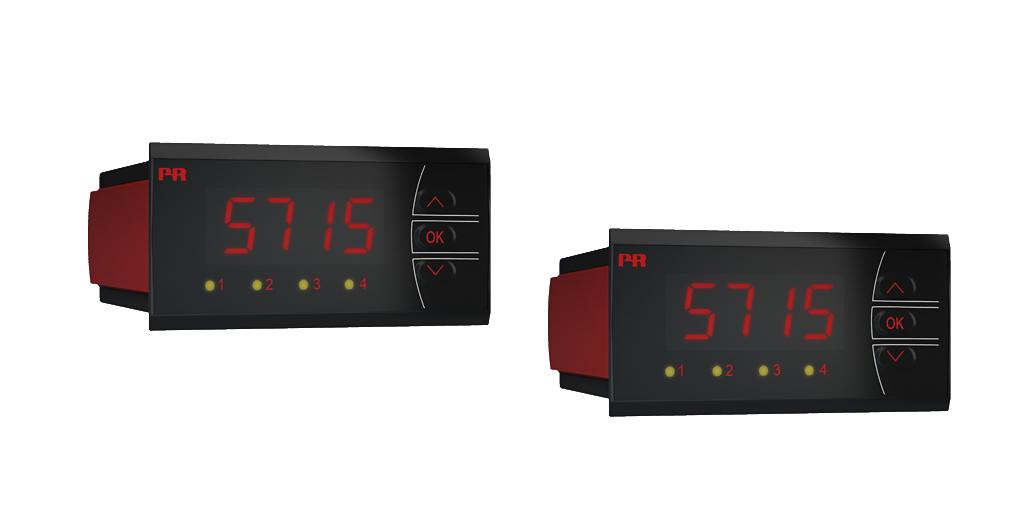 4桁の14セグ LED 表示で見やすい温度信号変換器 5715D