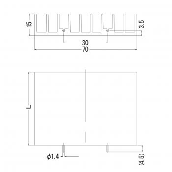 15PB070 寸法図