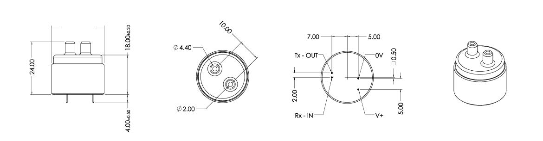 SPRINT-IR-R 寸法図
