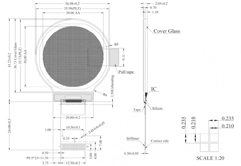 WEO128128B の寸法図