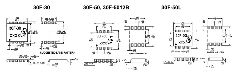 30F-30/50 シリーズの寸法図