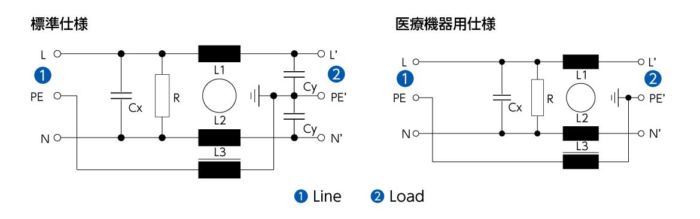 チョーク付 C20F 回路図