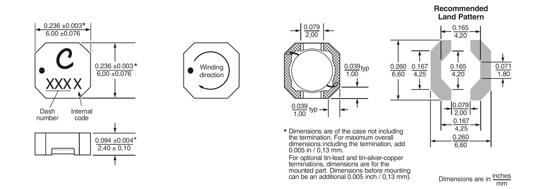 LPS6225 シリーズ外形図