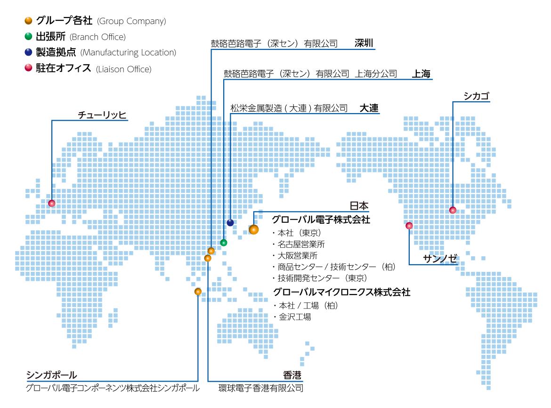 グローバル拠点マップ