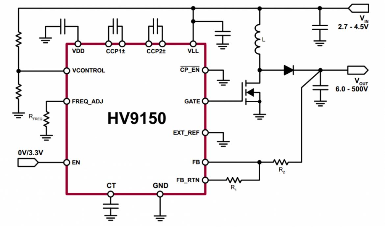 HV9150 応用回路例