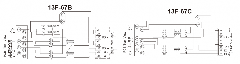 13F-67 シリーズのブロック図