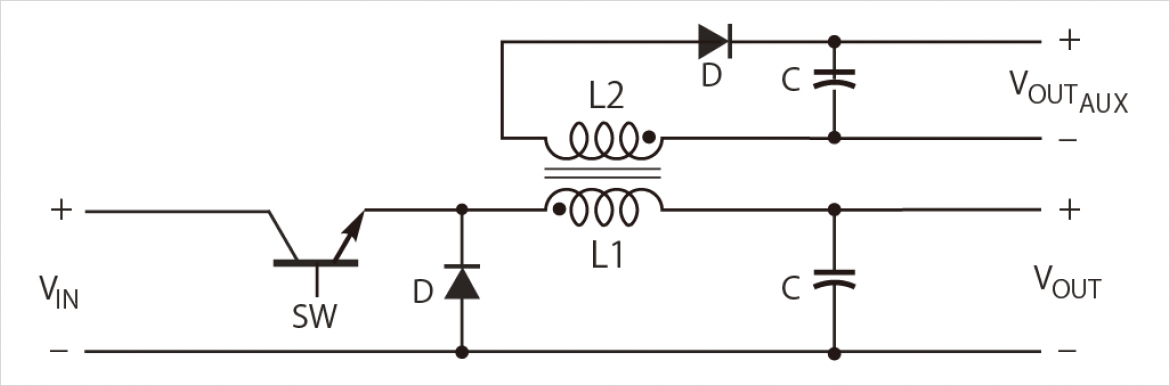 Typical Buck Converter with auxiliary output