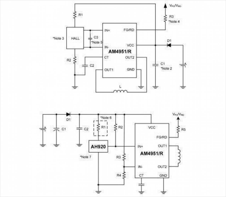 AM4951/R/2 の典型的な応用例