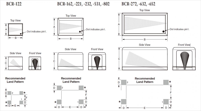 外観およびパターン寸法図