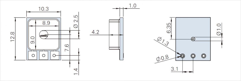 TR シリーズ寸法図