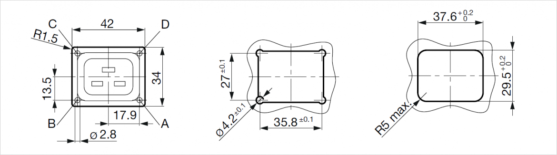 4710-5 シリーズ寸法図