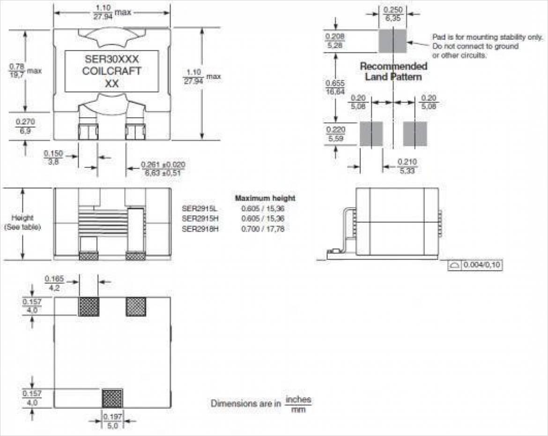 外形図および基板パターン