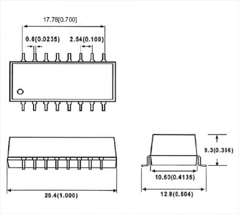SMA シリーズ Package B の寸法