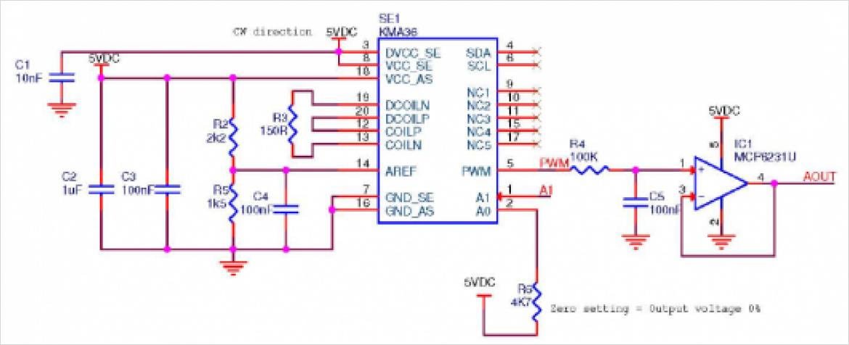 アナログインターフェースを使った回路事例