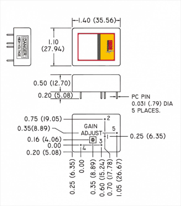 EMCO Cシリーズ寸法 (100V ~ 2kV)