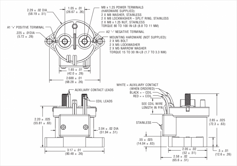 KILOVAC EV200 外形寸法図