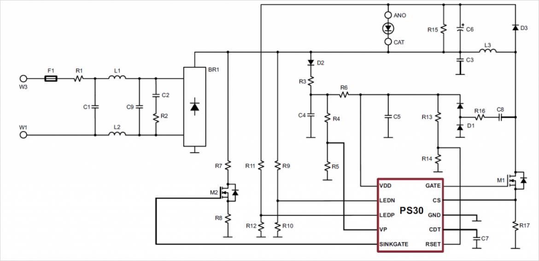 PS30 のアプリケーション回路例