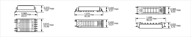 Coilcraft FL シリーズ 外形形状