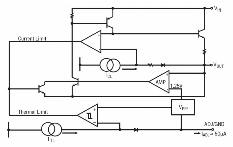 EXAR 社製 SPX1117 の内部回路図