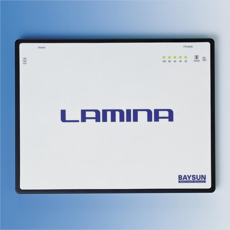 極薄、軽量の外付けリチウムポリマーバッテリー LAMINA シリーズ