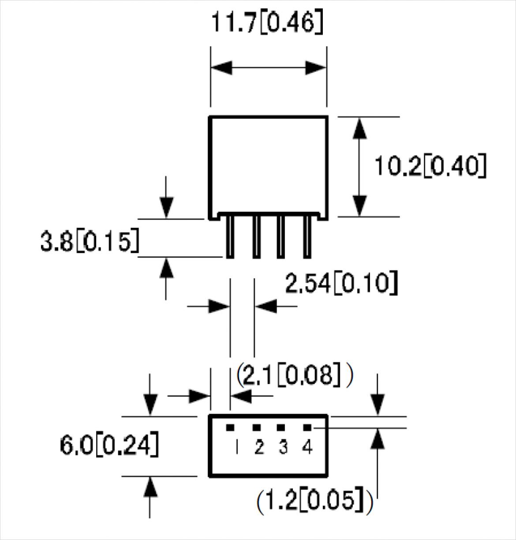 LV シリーズ パッケージ A 寸法図