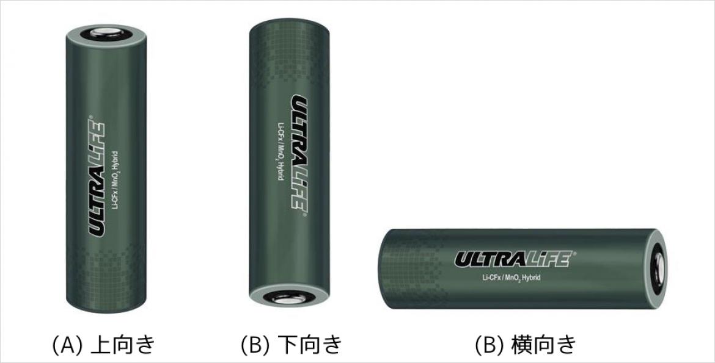 ハイブリッドリチウム電池は取り付け方向に制限はありません