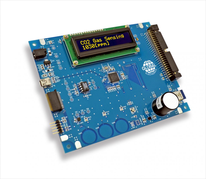 HTU2× シリーズと MS5637-02BA03 搭載自社開発センサデモボード(非売品)