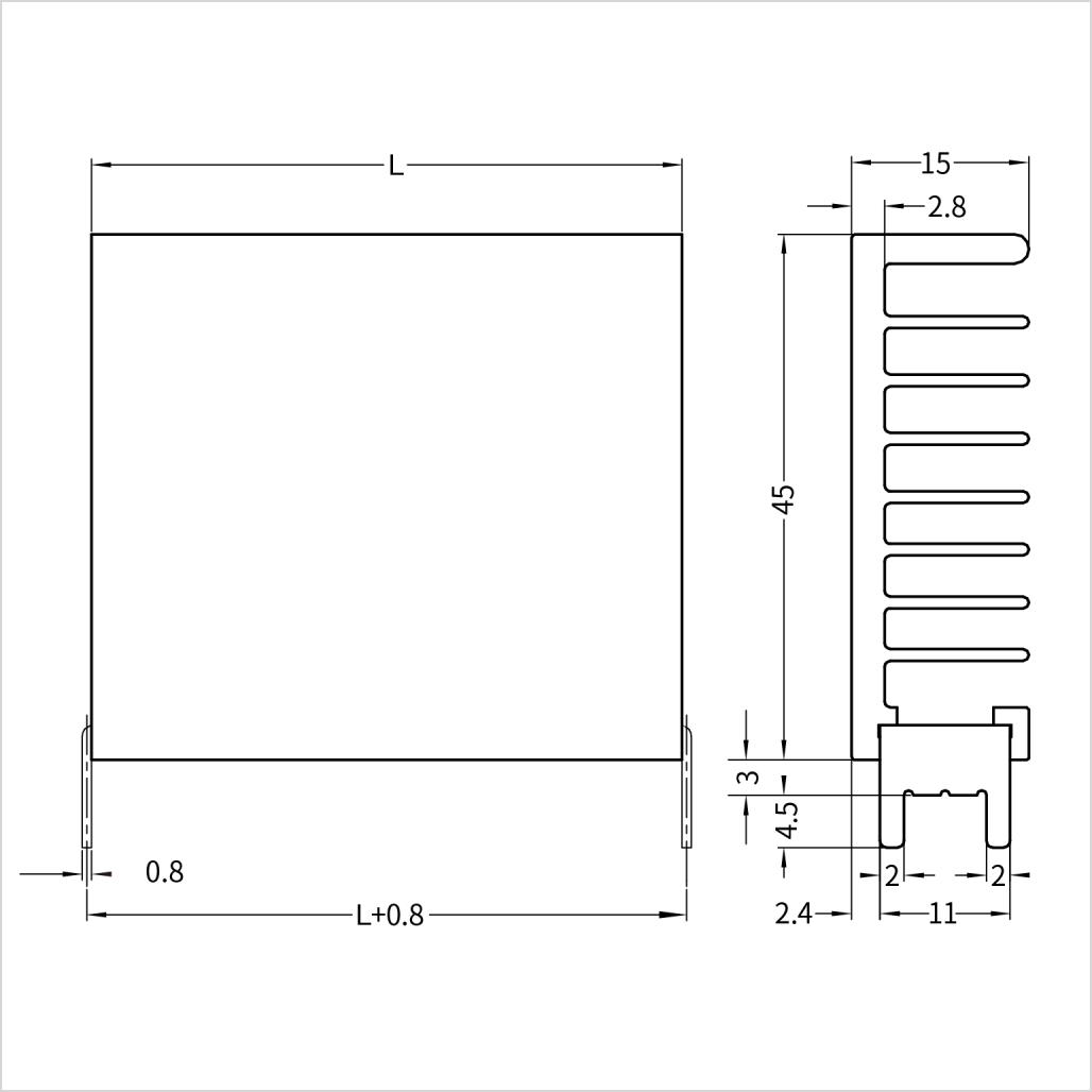 15VF045 寸法図