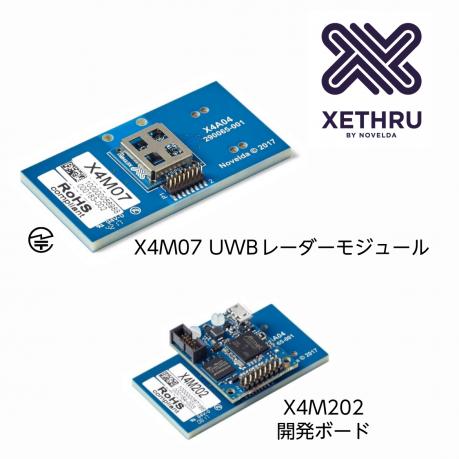 X4M07 UWBレーダーモジュール&X4M202開発ボード