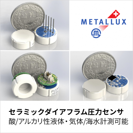 Metallux 社製セラミックダイアフラム圧力センサ