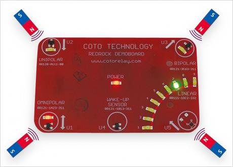 RedRock 磁気センサの評価ボード
