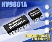 HV9801A スイッチによる段階調光が可能なLEDドライバ