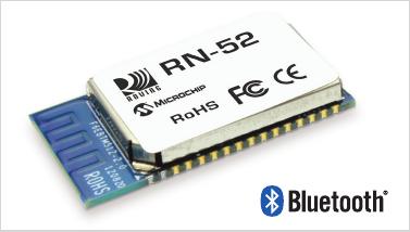 高品質オーディオ向け Bluetooth モジュール RN52