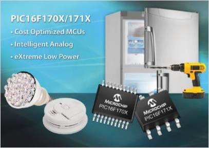 アナログ機能がより充実した 8 ビットマイクロコントローラ、PIC16(L)F170x シリーズ