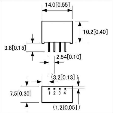 LV シリーズ パッケージ C 寸法図