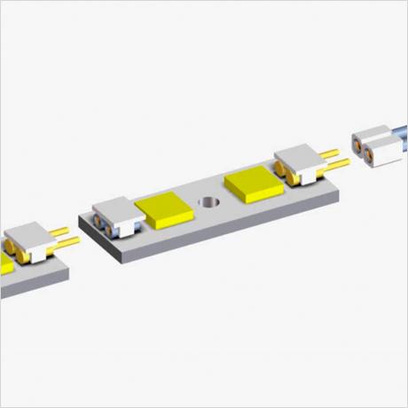 PRECI-DIP 社製ピン/ソケット構造低背型 LED 照明用コネクタ