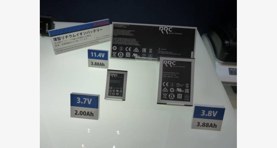 新製品 薄型リチウムイオンバッテリーの展示